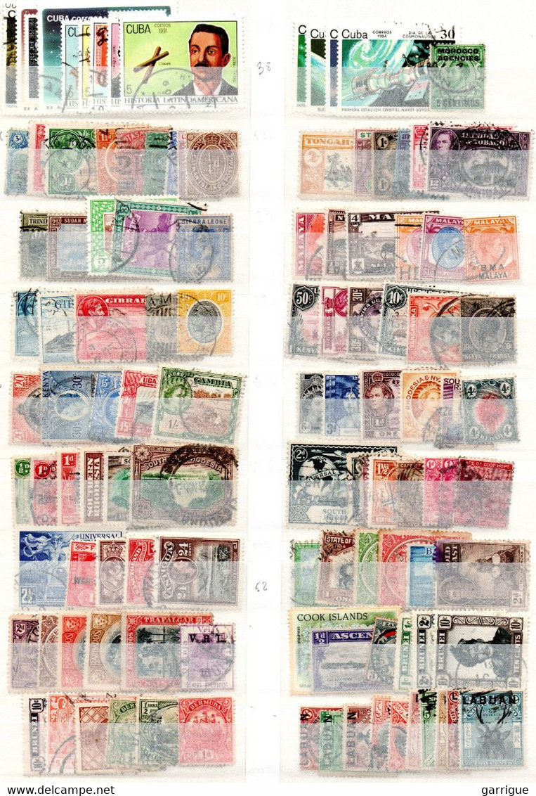 MONDE ENTIER Sauf France : Plus De 8200 Timbres Différents - Lots & Kiloware (mixtures) - Min. 1000 Stamps