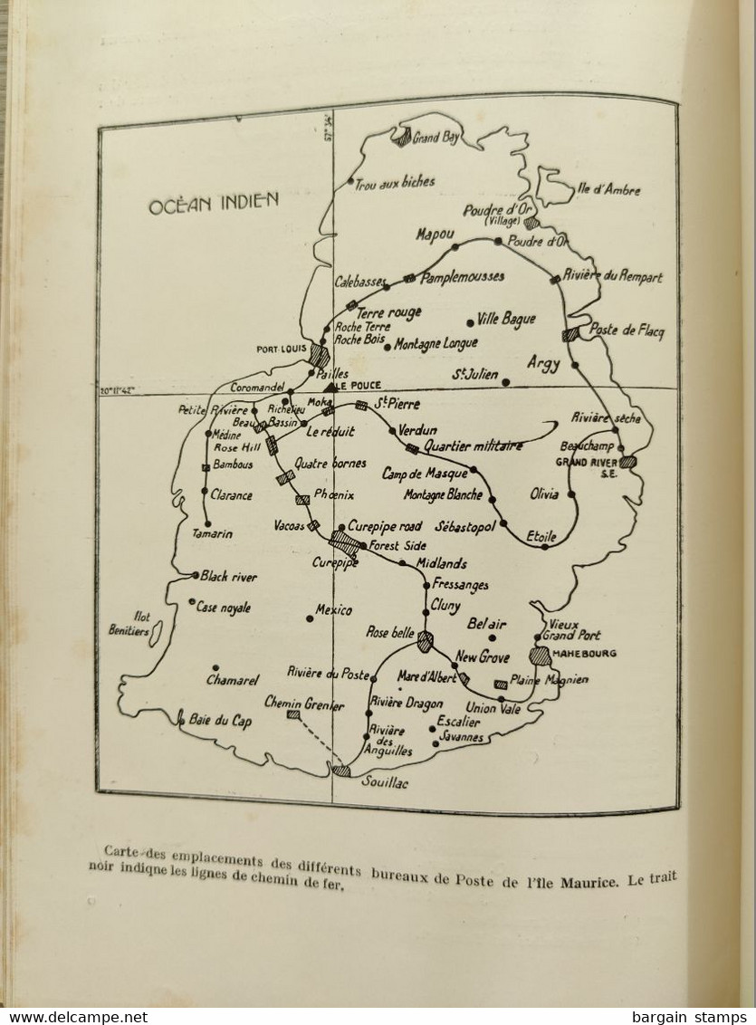Les Timbres-poste De L'ile Maurice  Georges Brunel 71 Pages Editions Philatelia 1928 Exemplaire N°22 Sur 135. - Kolonien Und Auslandsämter
