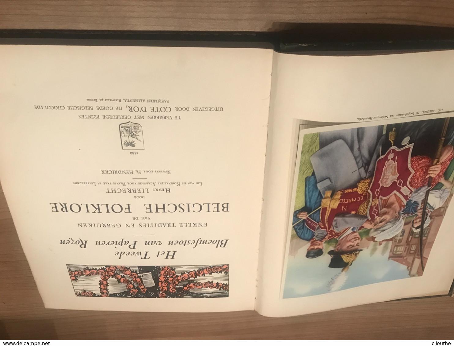Belgische Folklore Henri Liebrecht - Chromo's Cote D'or - Practical