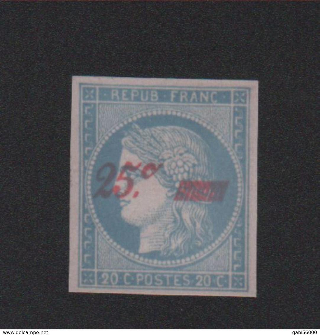 Faux N° 8A 25 C Sur 20 C Cérès Neuf Sans Gomme - 1849-1850 Cérès