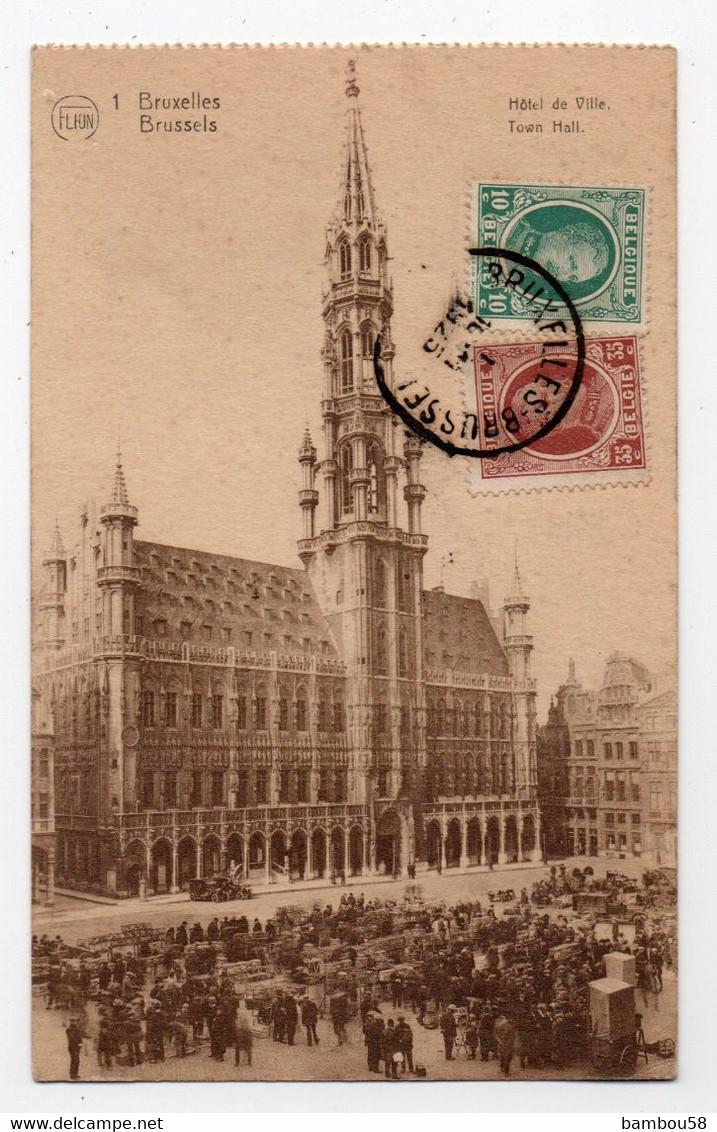 BRUXELLES * BELGIQUE * HOTEL DE VILLE * édit.Flion * Grosse Animation - Brussel Nationale Luchthaven