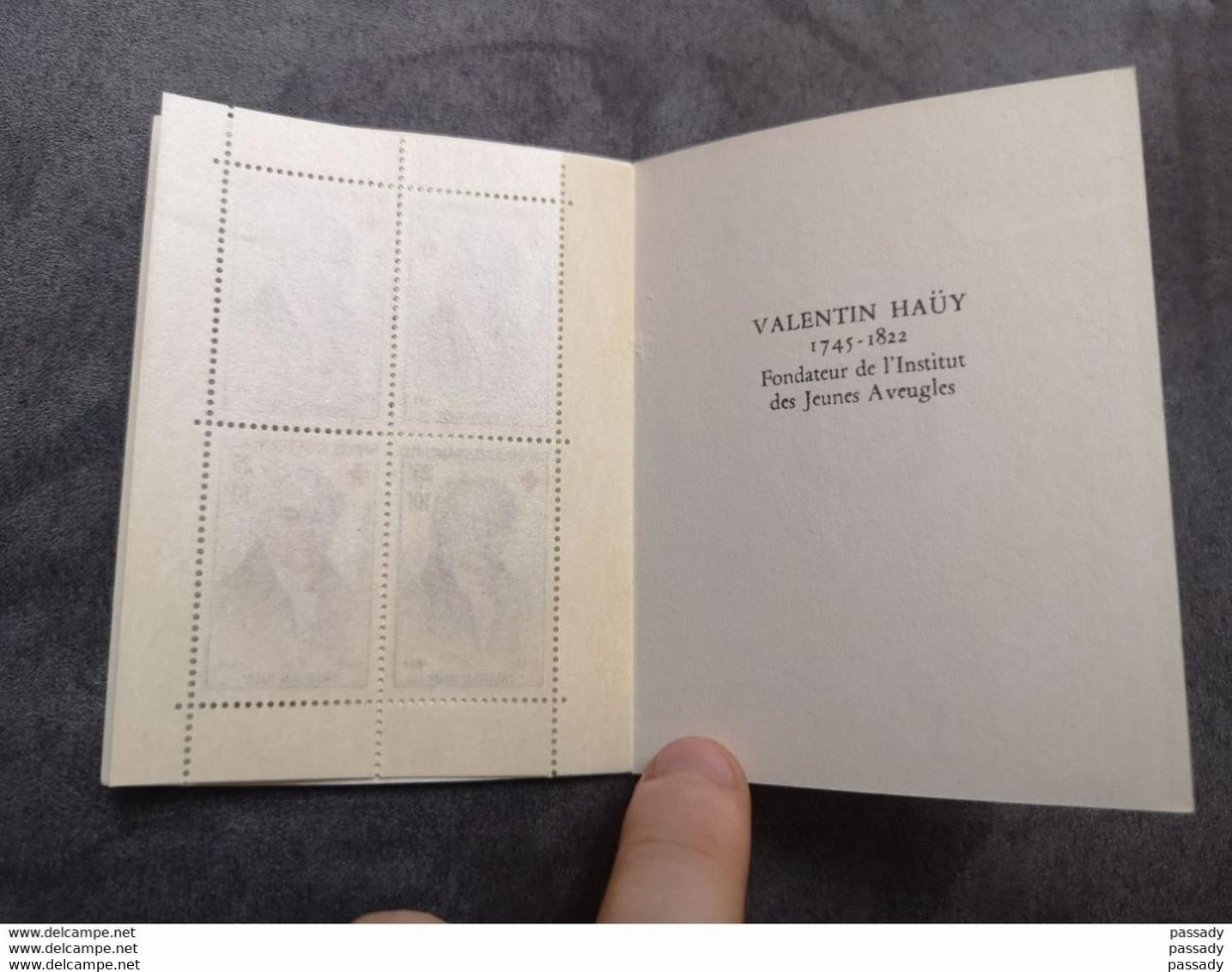 ⭐ Carnet CROIX-ROUGE 1959, Timbres NEUFS** - Excellent État Sans Charnières Michel De L'épée Valentin Haüy ⭐ - Rotes Kreuz