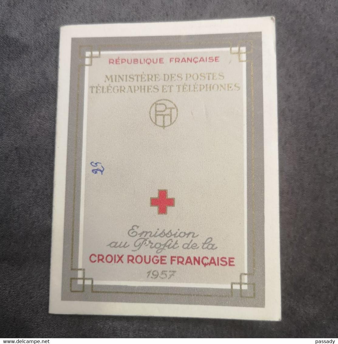 ⭐ Carnet CROIX-ROUGE 1957, Timbres NEUFS** - Excellent État Gomme D'Origine Sans Charnières Le Nain Watteau Louvre ⭐ - Red Cross