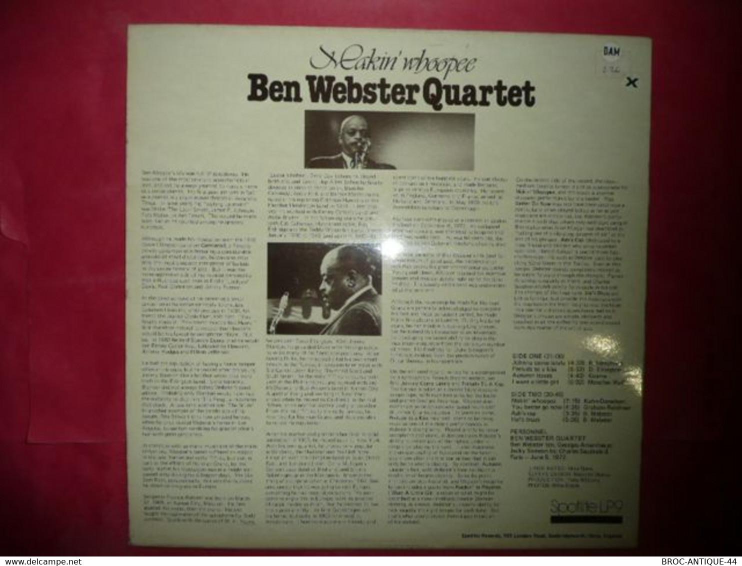 LP33 N°7930 - BEN WEBSTER QUARTET - LP 9 - MADE IN ENGLAND - Jazz