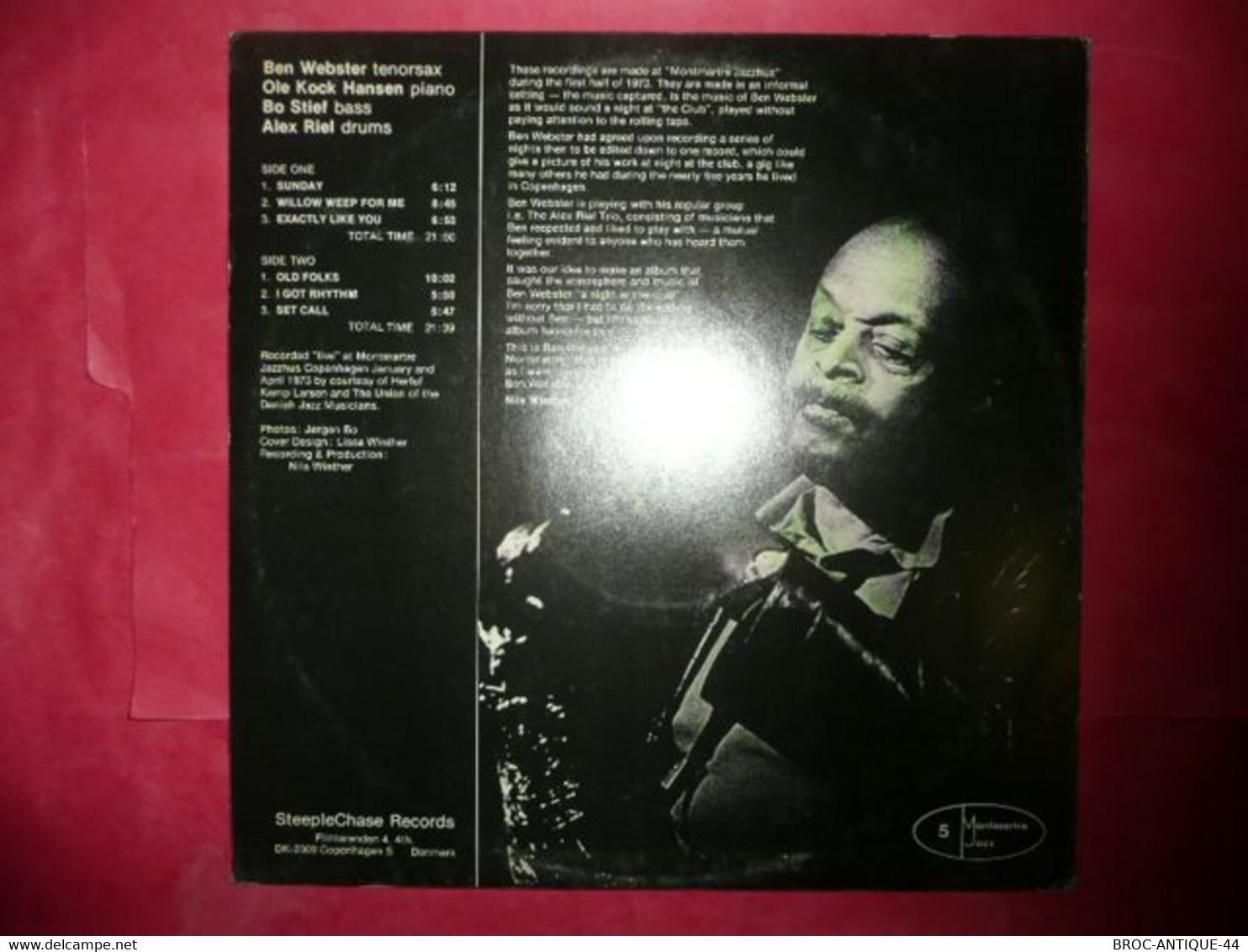 LP33 N°7932 - BEN WEBSTER - SCS 1008 - MADE IN DENMARK - Jazz