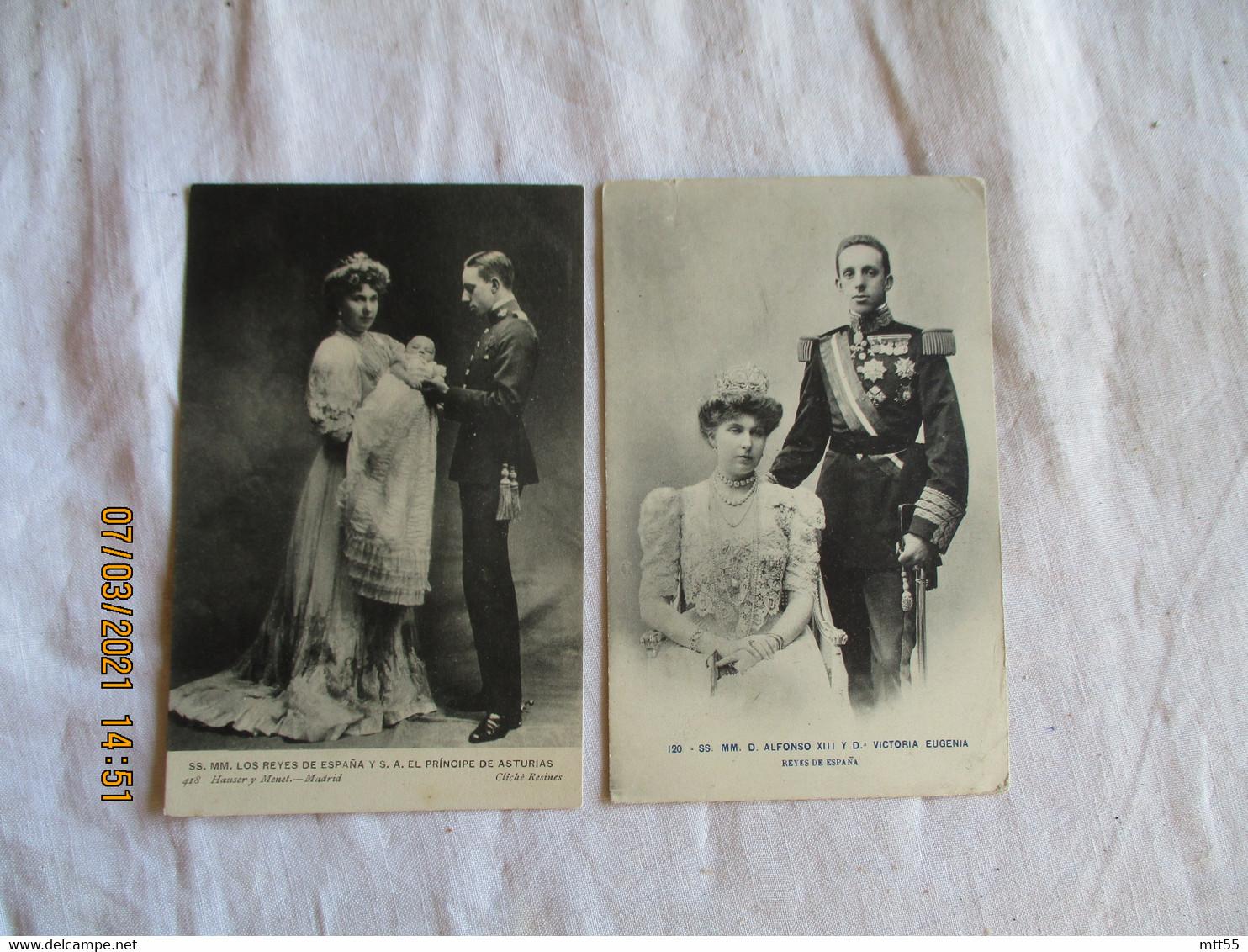 Roi Alfonso 13 Et Victoria Eugenia Lot De 3  Espagne Espana - Sonstige