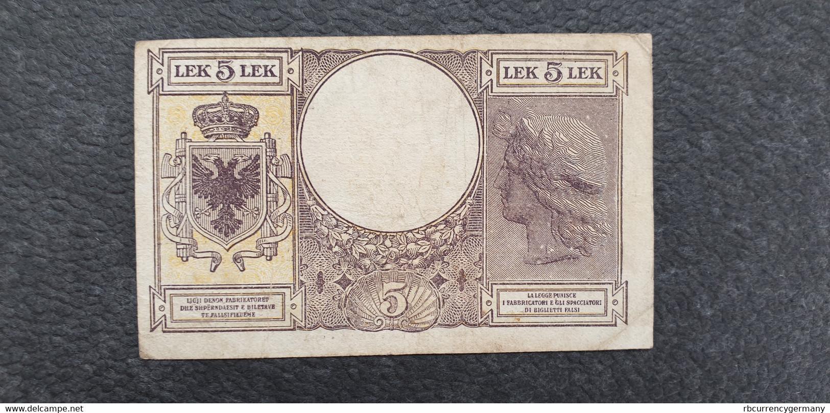 Albania / Albanien 5 Lek 1940 /21.04 - Albania
