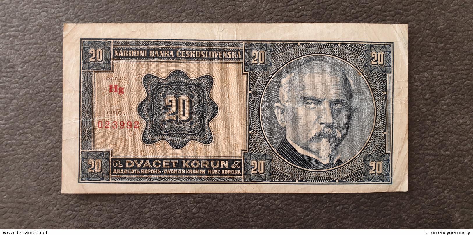 Czechslovakia / Tschechoslowakei 20 Korun 1926  /21.04 - Czechoslovakia