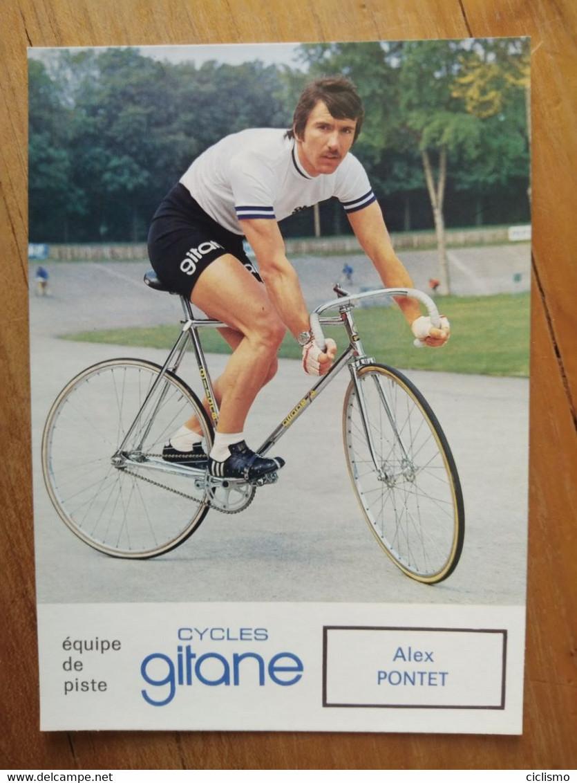 Cyclisme - Carte Publicitaire GITANE PISTE 1973 : Alex PONTET - Radsport