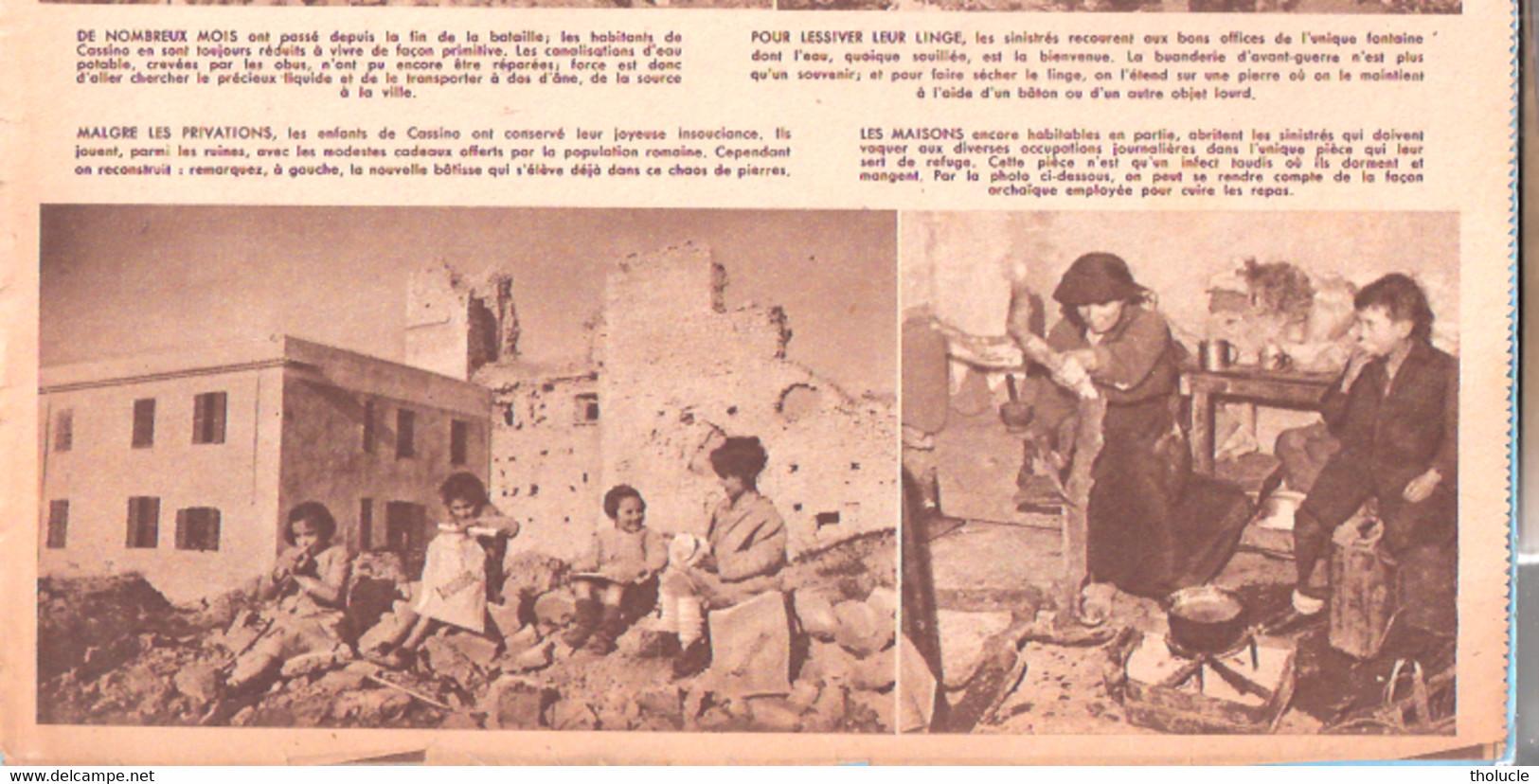 Guerre 1939-1945-Italia-La Ville De Monte Cassino (Abbaye Du Mont Cassin) Renait De Ses Ruines En 1946-Patriote Illustré - Weltkrieg 1939-45