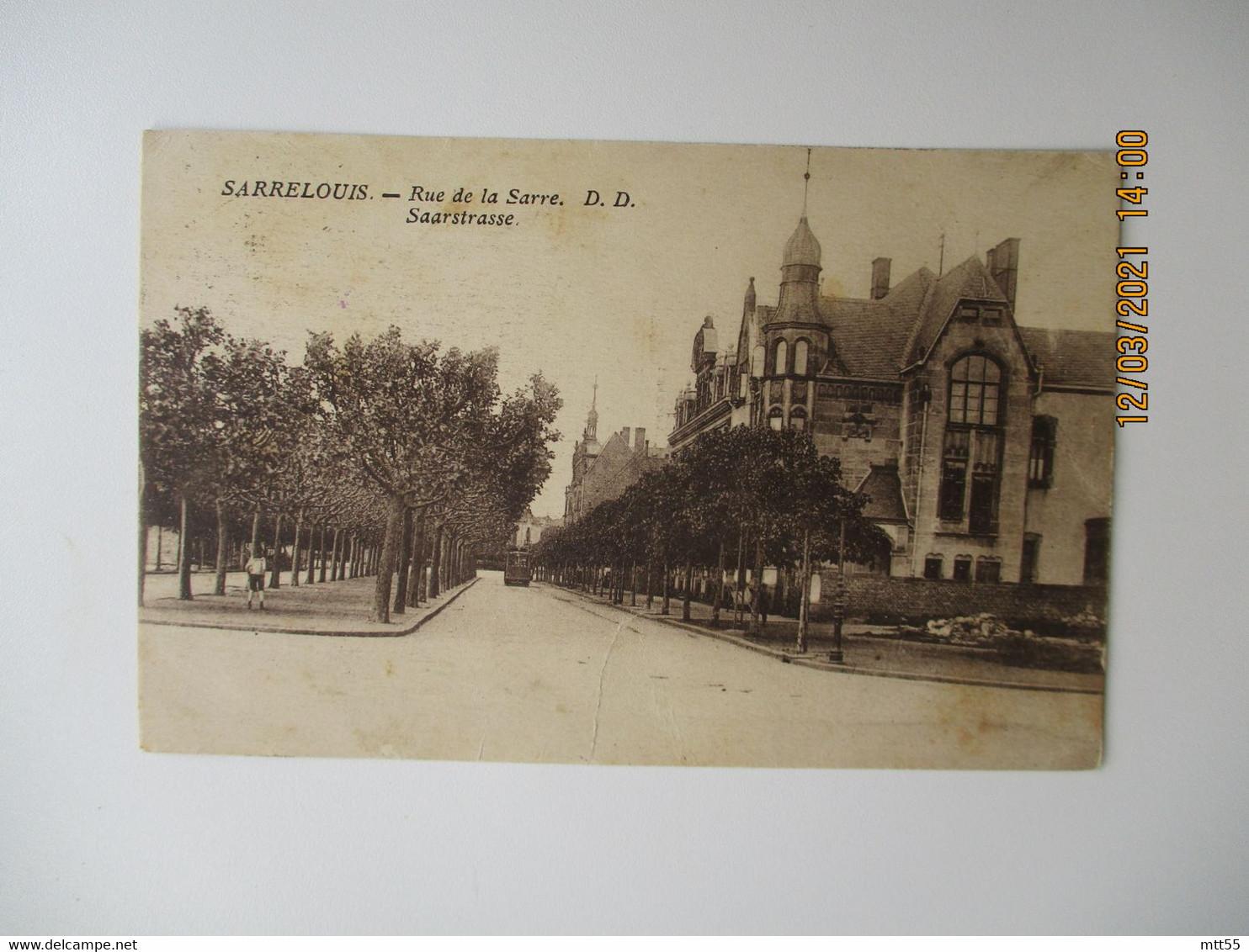 Occupation Allemagne Poste Aux Armees 219 Franchise Postale  Sur Carte Sarrelouis - 1. Weltkrieg 1914-1918