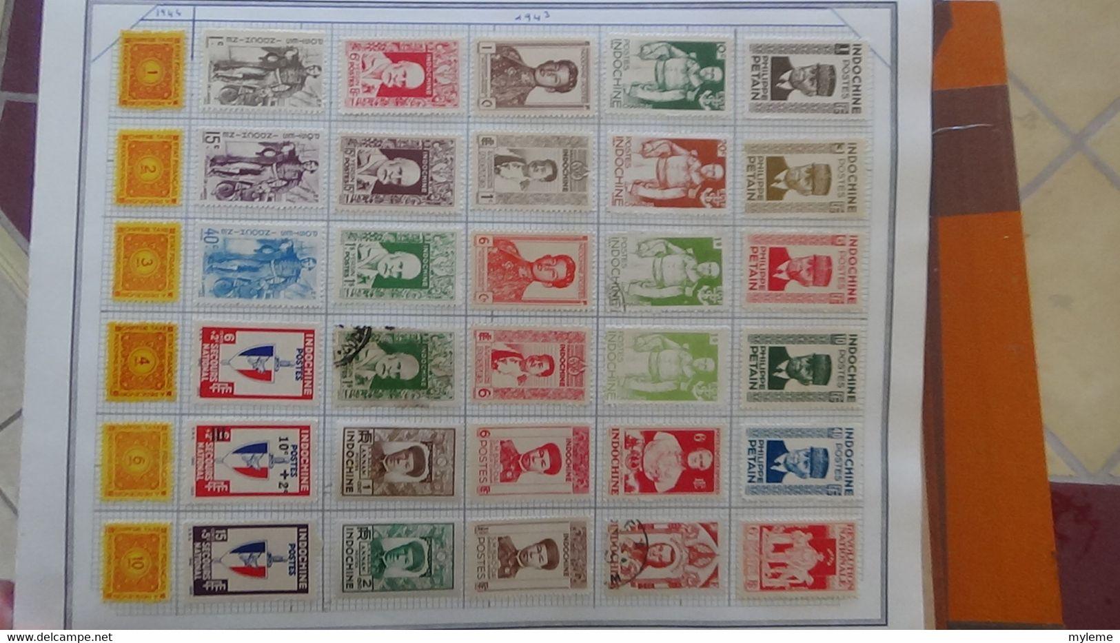 R31 Sur Feuilles De Cahier Timbres Corée, Hong-Kong, Indes, Indochine . Port Offert à 50 % Pour La France - Sammlungen (im Alben)