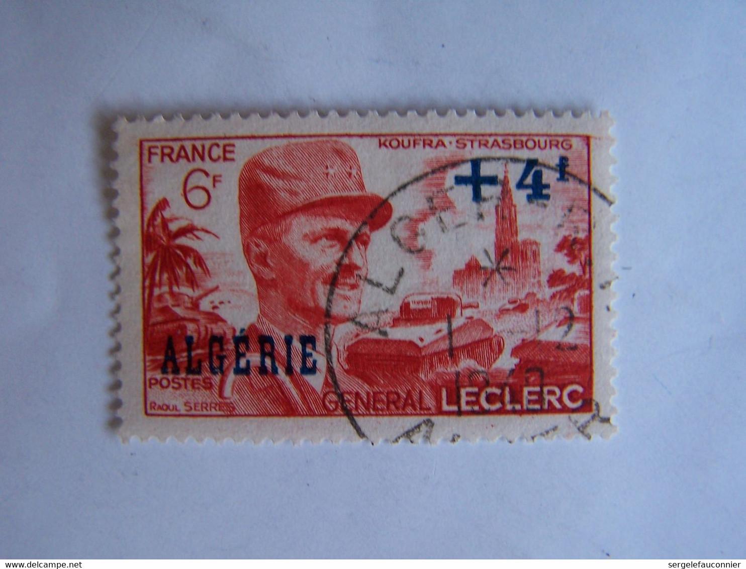 ALGERIE 1949 OBLITERE 1-12-1949 GENERAL LECLERC - Usati