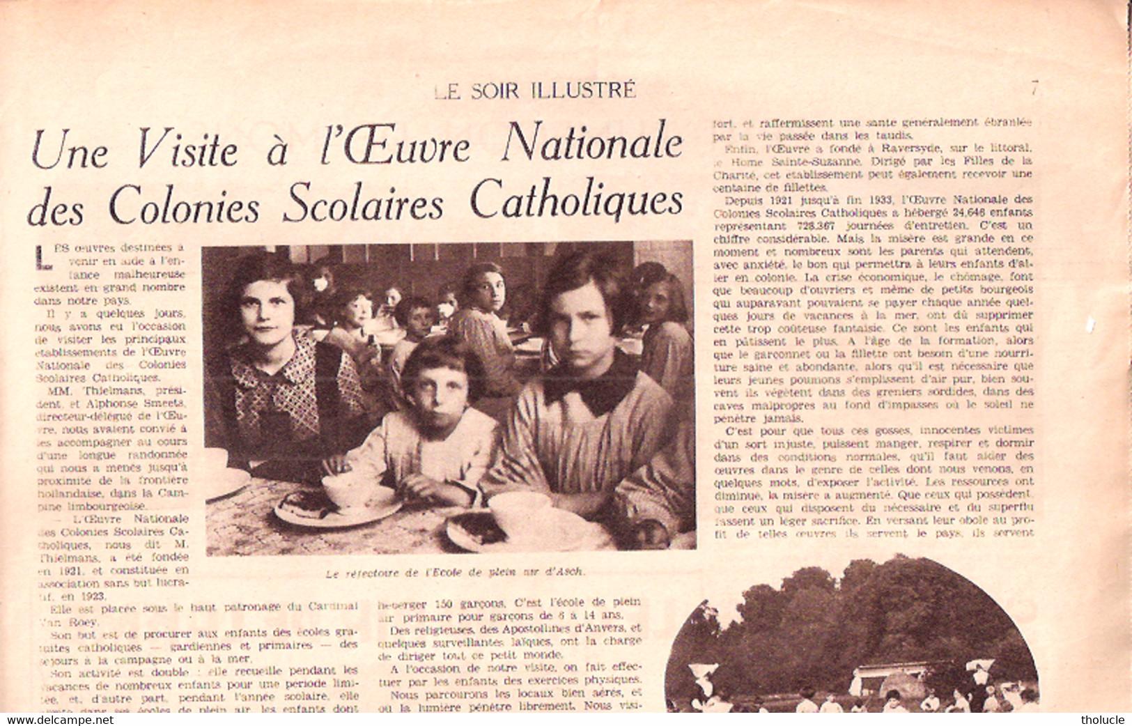 """Mons-Le Petit Lumeçon-Doudou-Colonies Scolaires Catholiques-Asch-As-Tervuren-Ch.Stolberg-Averbode-""""Soir Illustré"""" 1934 - Ohne Zuordnung"""
