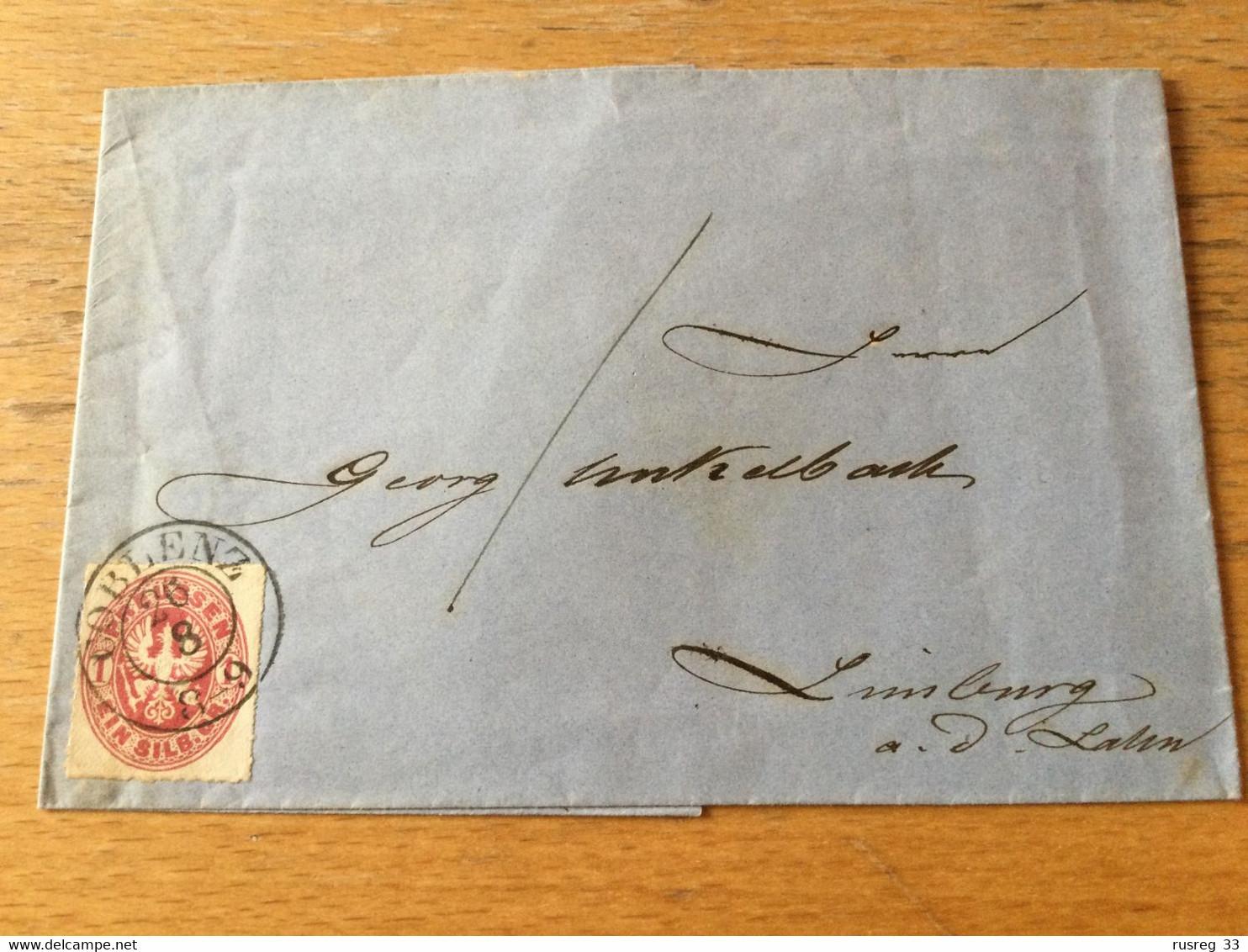 K17 Preussen Brief Von Koblenz Nach Limburg/Lahn - Prusse