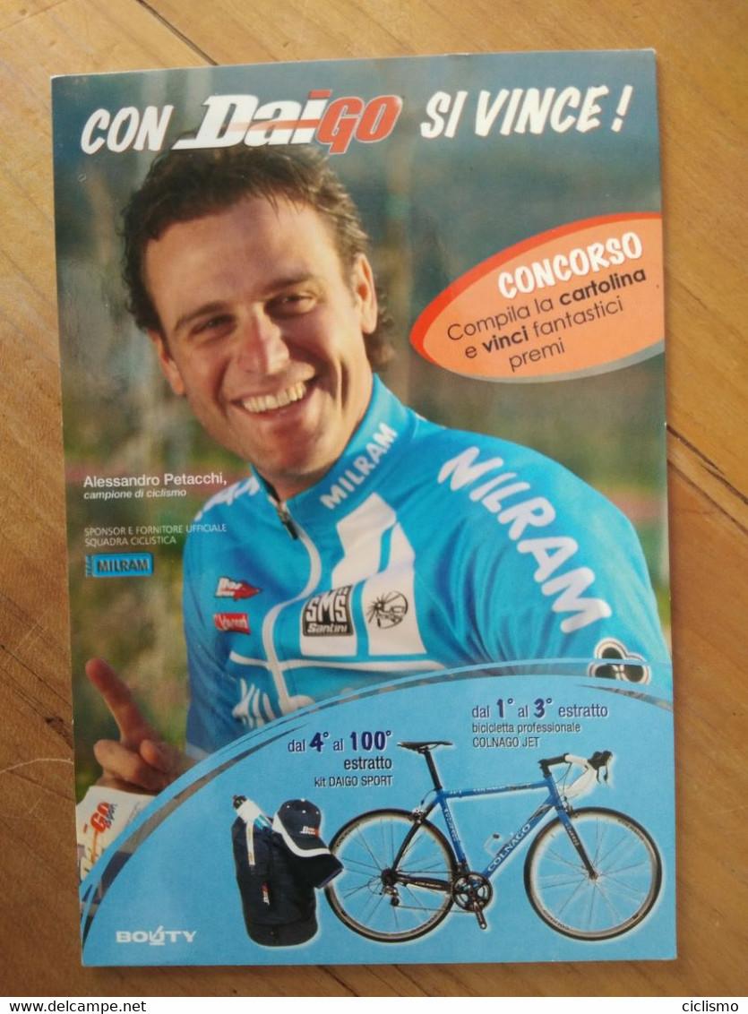 Cyclisme - Carte Publicitaire DAIGO BOUTY : PETACCHI - Cycling