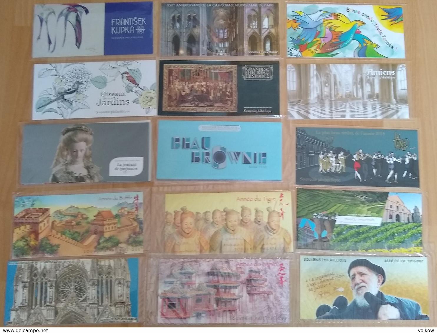 Souvenirs Philateliques Complets De 2007 A 2018 - Souvenir Blokken