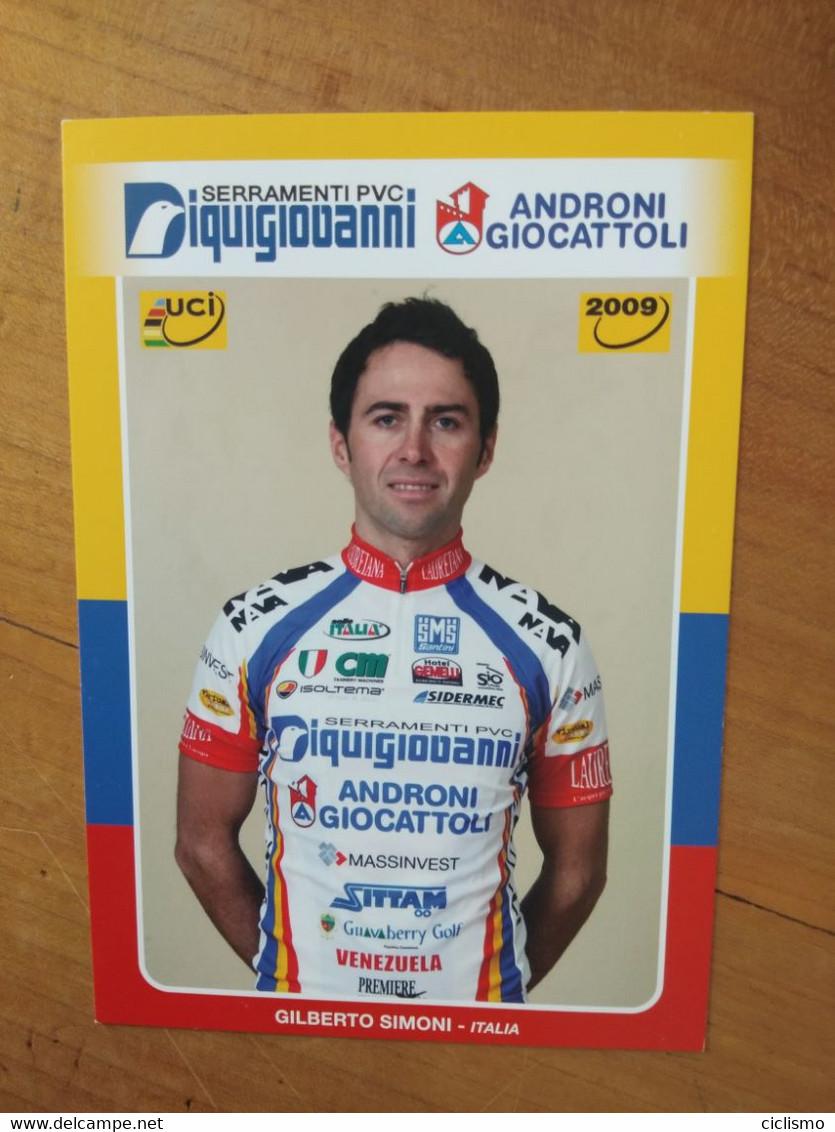 Cyclisme - Carte Publicitaire ANDRONI GIOCATELLI 2009 : SIMONI - Cycling