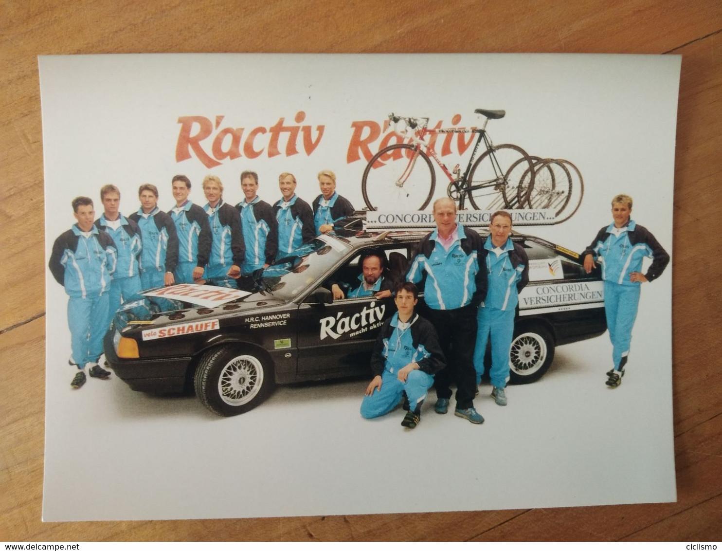Cyclisme - Carte Photo Publicitaire R'ACTIV CONCORDIA : Le Groupe - Cycling
