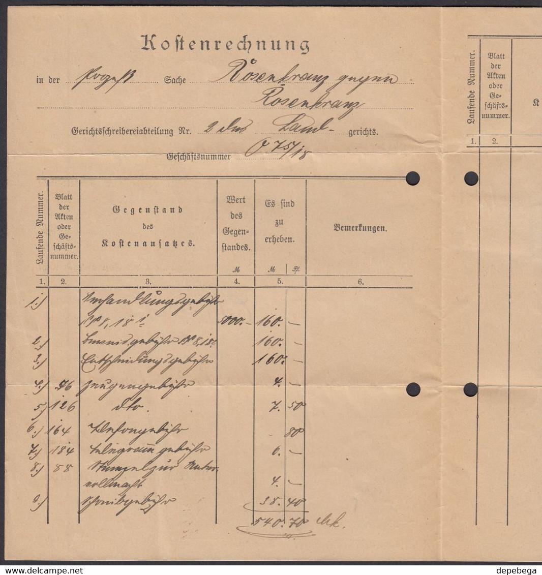 Germany - Diestmarke MiNr. 30,33 MiF Brief, Gerichtkasse - Kostenrechnung, LIMBURG 7.11.1922 - Weilburg. - Oficial