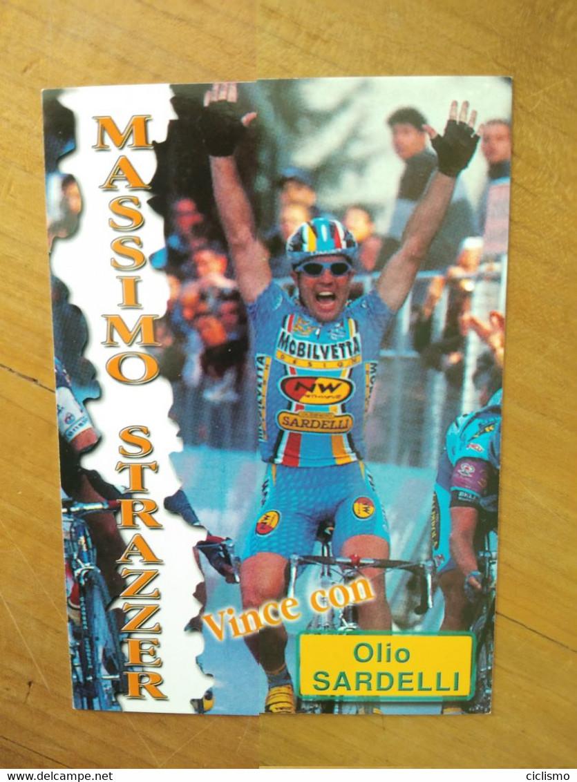 Cyclisme - Carte Publicitaire OLIO SARDELLI : STRAZZER - Cycling