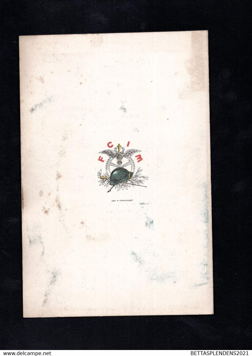 Banquet Offert Par La FCIM - Guerre 1914-1919 à Mr CLEMENTEL - Ministre Du Commerce - PALAIS D'ORSAY 03 Septembre 1919 - Menú