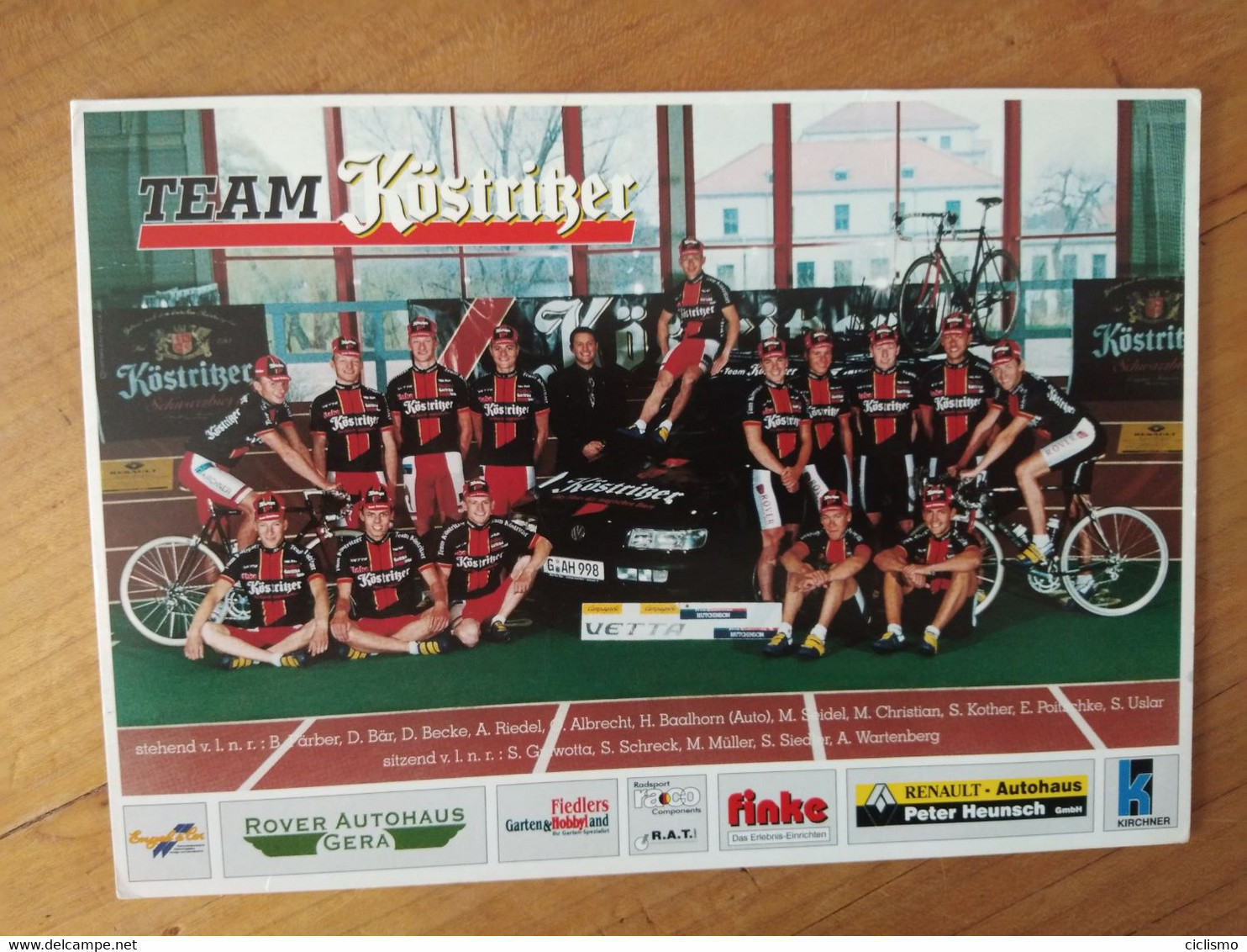 Cyclisme - Carte Publicitaire  TEAM KOSTIGER 1997 :  Le  Groupe - Cycling