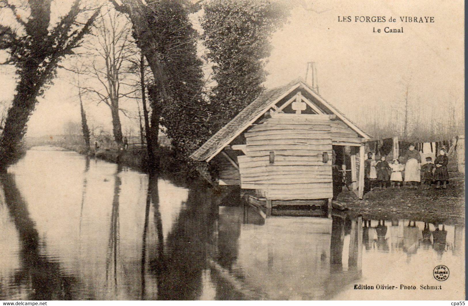 VIBRAYE  -  Le Canal Des Forges  -  Animation  Rare Visuel - Vibraye