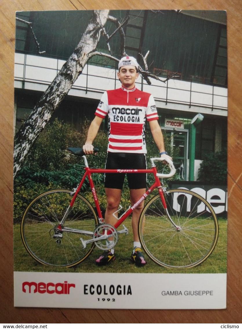 Cyclisme - Carte Publicitaire MECAIR ECOLOGIA 1992 : GAMBA - Cycling