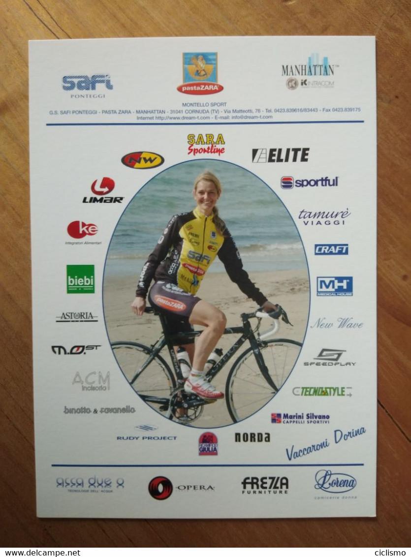 Cyclisme - Carte Publicitaire SAFI PASTA ZARA 2005 :  Dorina VACCARONI - Cycling