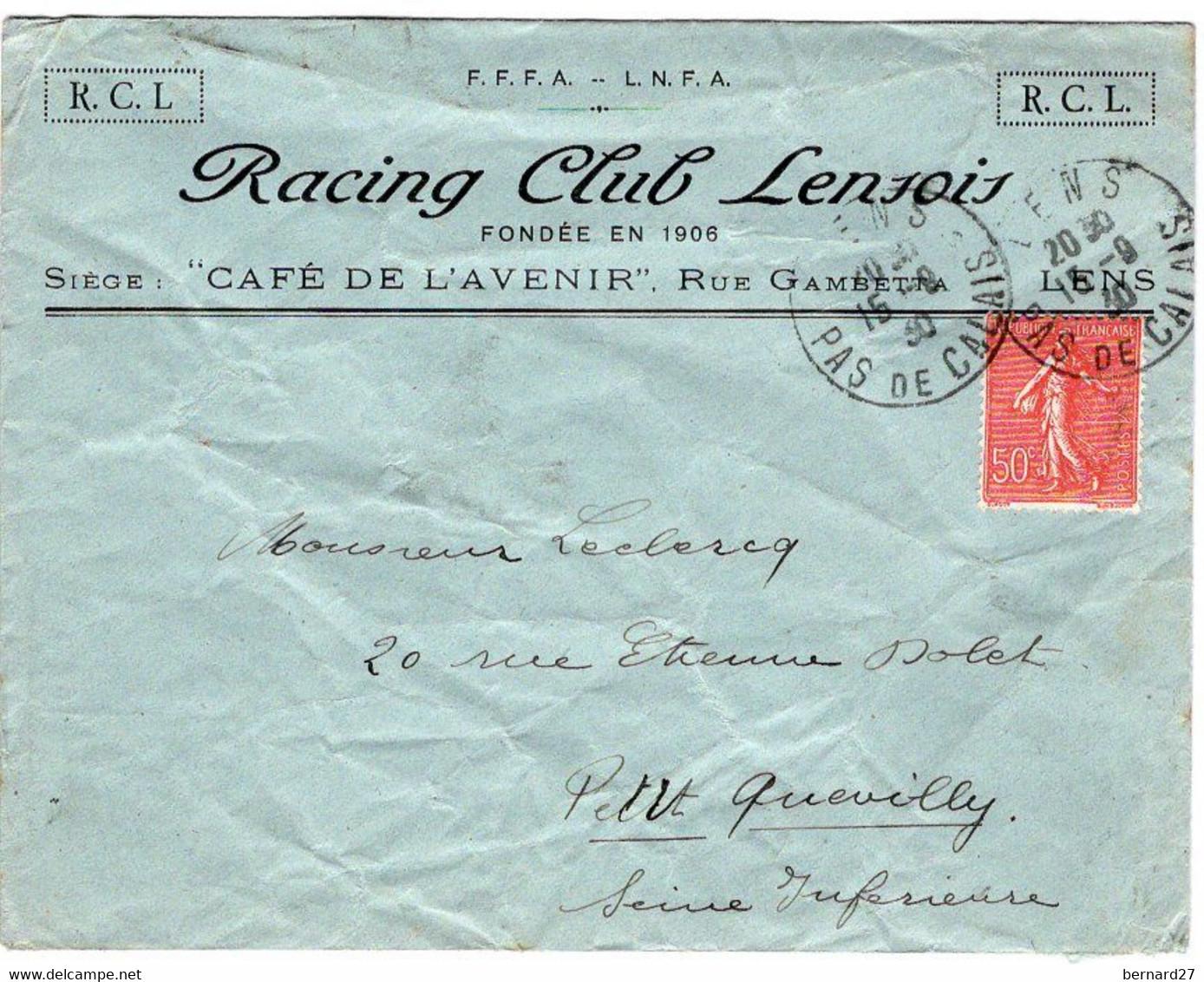 ENVELOPPE RACING CLUB LENSOIS - LENS - Zonder Classificatie