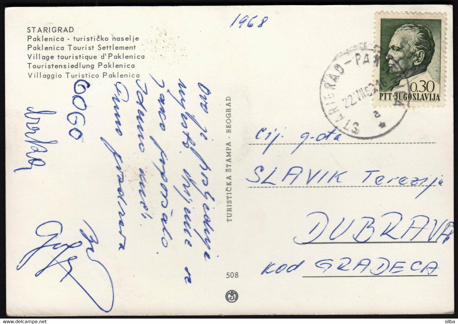 Croatia Starigrad Paklenica 1968 / Tourist Settlement / Auto Camp - Croacia