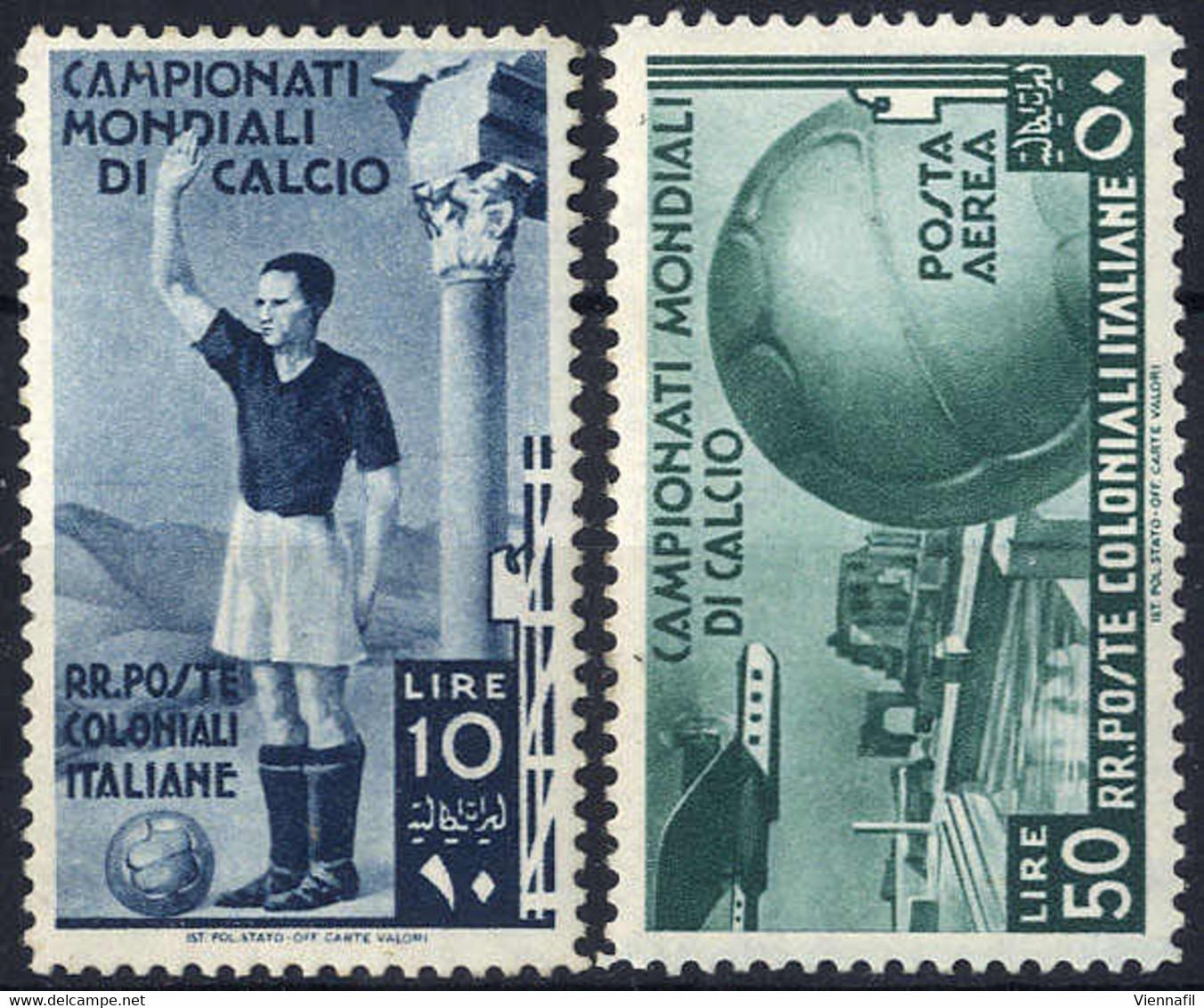 * 1934, Calcio, 12 Val. (S. 46-A37 / 800,-) - Zonder Classificatie