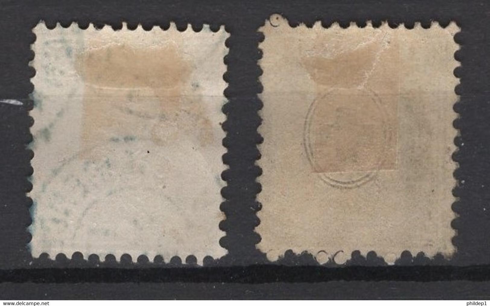 Timbre Suisse. 1867/68. N° Y&T 45 (x2, Nuances)). Oblitéré. Cote Y&T 2013: 6 € - Used Stamps