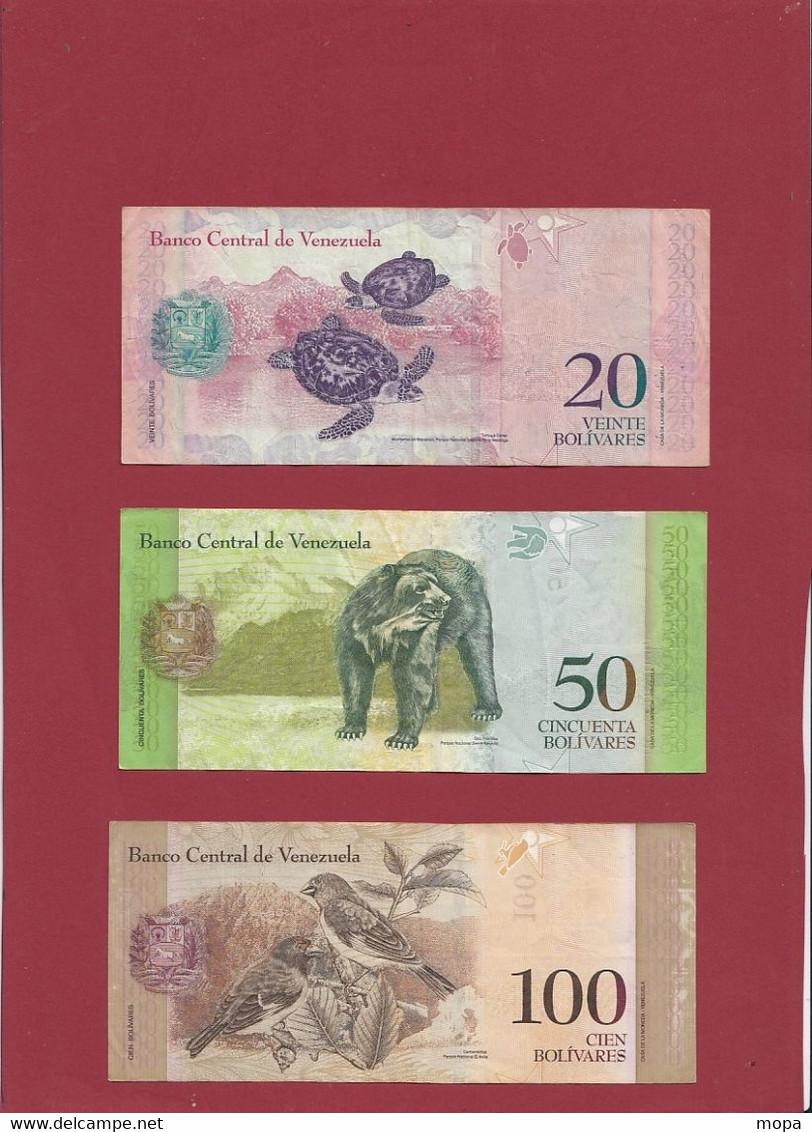 Venezuela 14 Billets Dans L 'état (CERTAINS BILLETS A FORTE COTE--4 LOTS -56 BILLETS AUCUN DOUBLE) Lot N °1 - Venezuela