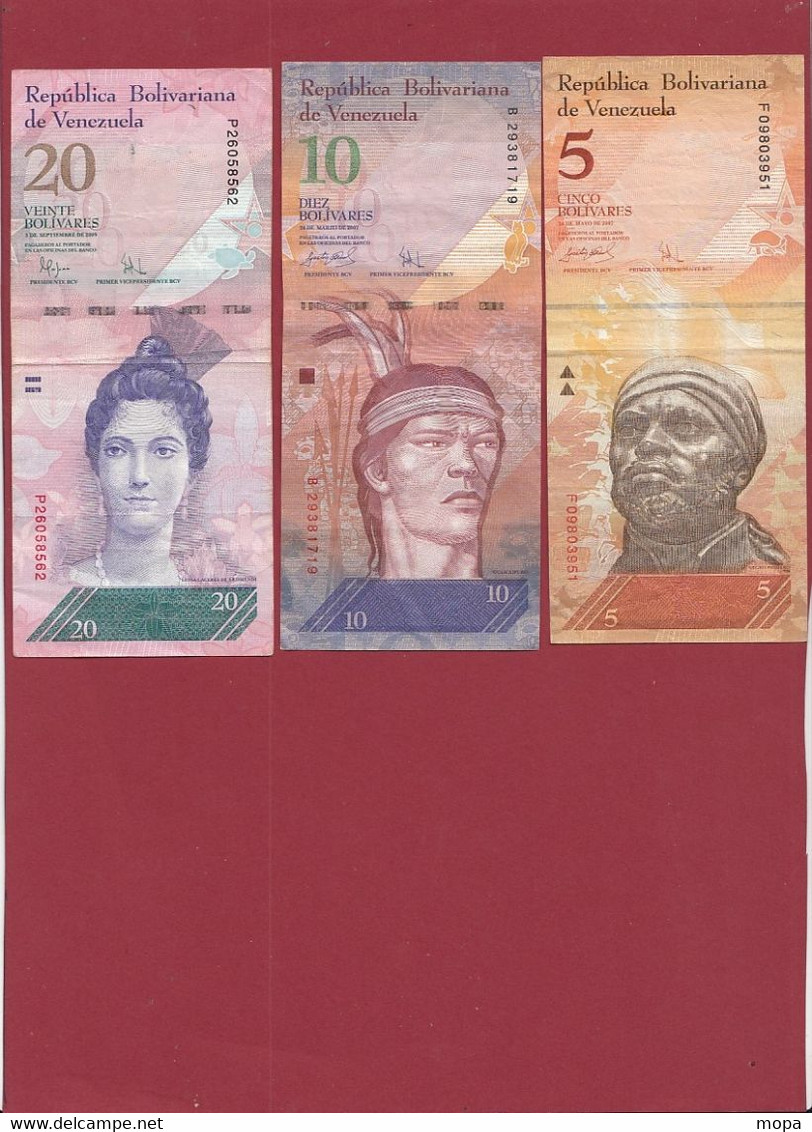Venezuela 14 Billets Dans L 'état (CERTAINS BILLETS A FORTE COTE---4 LOTS -56 BILLETS AUCUN DOUBLE) Lot N °3 - Venezuela