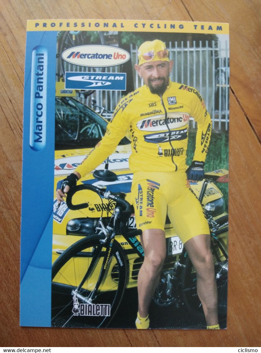 Cyclisme - Carte Publicitaire MERCATONE UNO BIALETTI : Marco PANTANI - Cycling