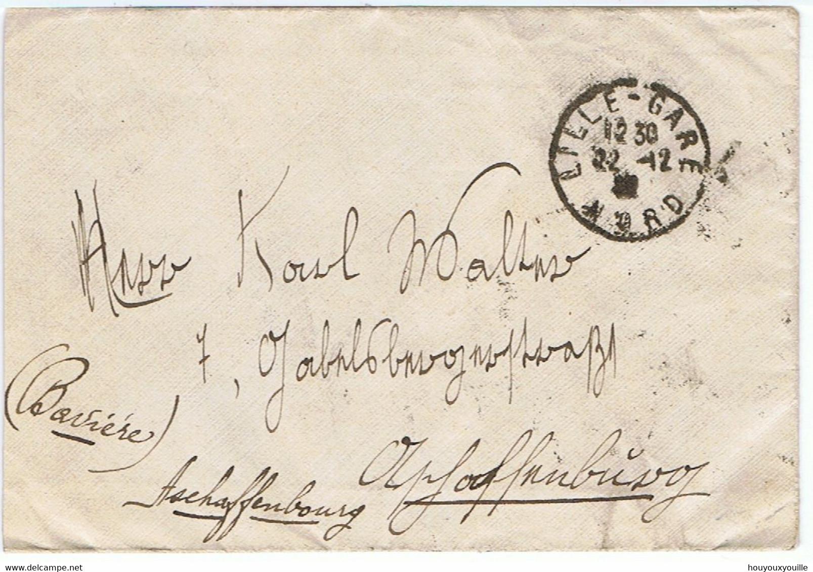 107 (bloc De 16) + 108 (paire) + 140 + 158 Sur Lettre De LILLE-GARE Du 22/12/1922 Vers ASCHAFFENBURG - 1921-1960: Modern Tijdperk