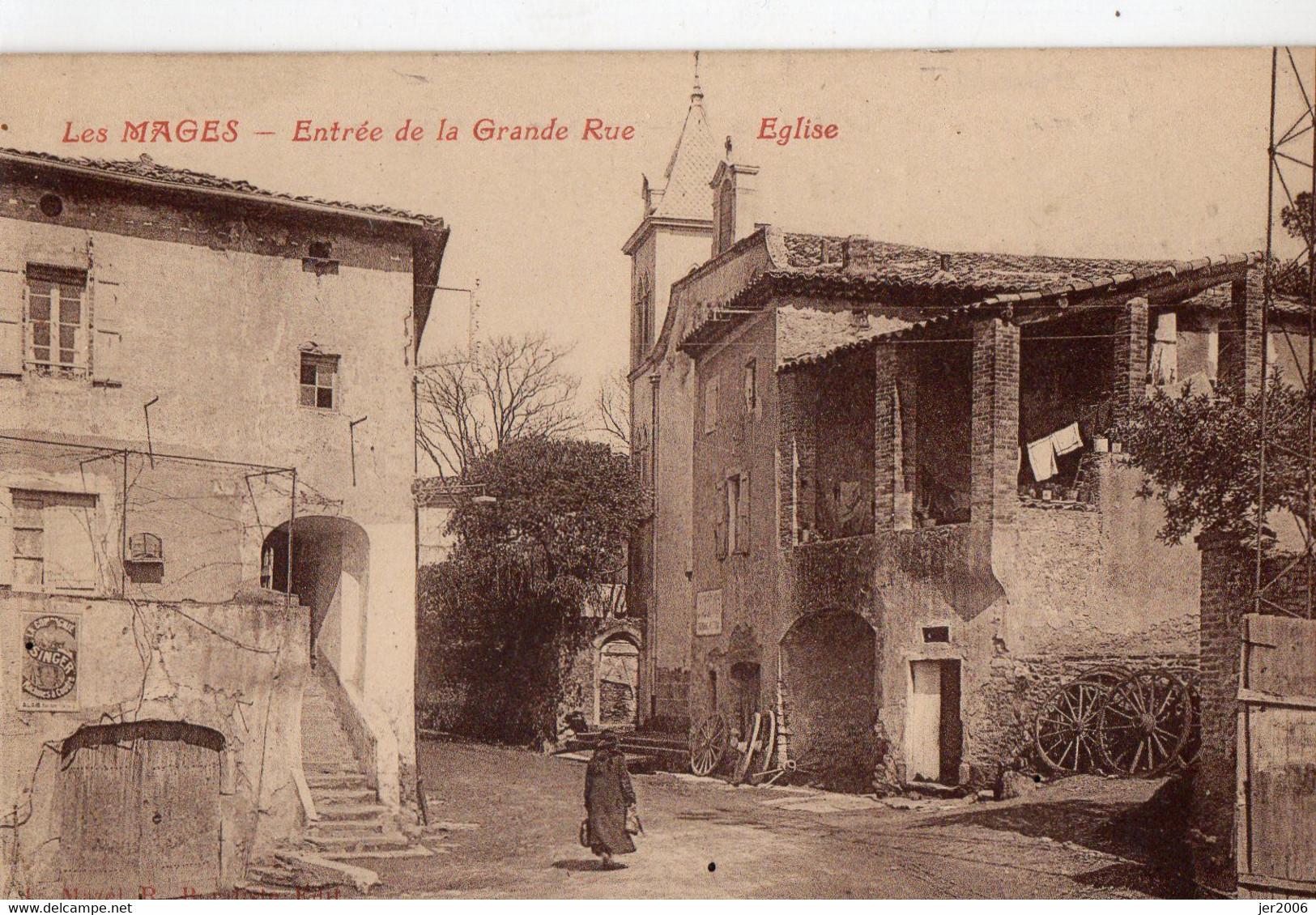 30. GARD // LES MAGES. ENTREE DE LA GRANDE RUE  //ANIMEE - Other Municipalities