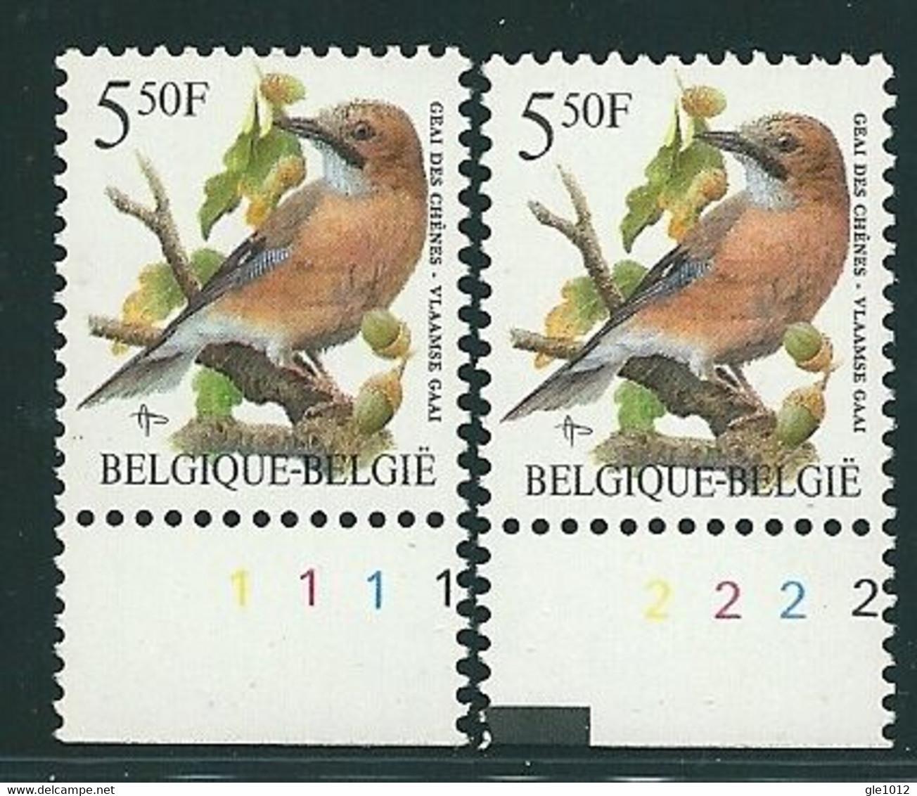 Buzin Nr 2526**   Plaatnr 1 En 2  CPL Witte Gom - 1985-.. Vogels (Buzin)