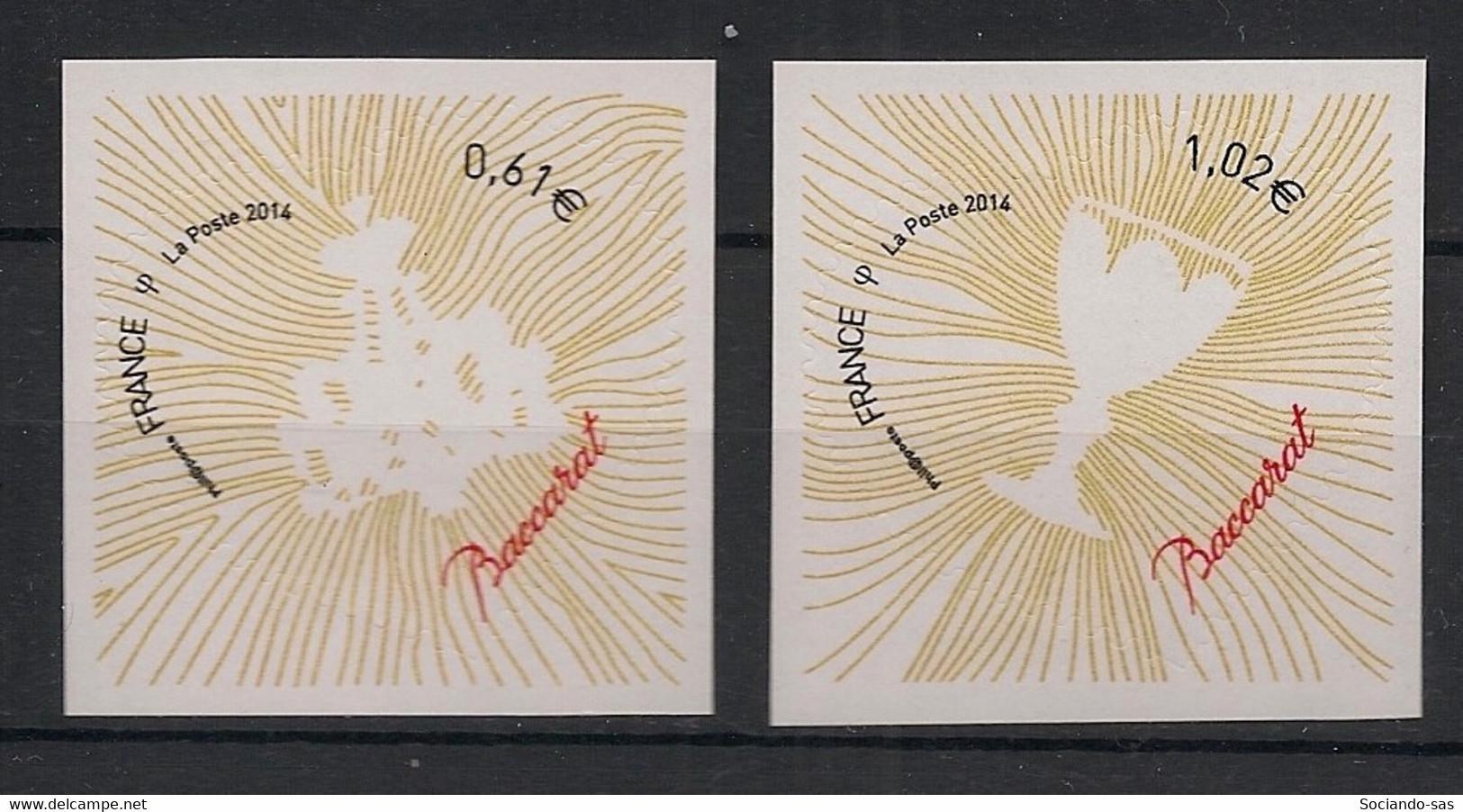 France - 2014 - Adhésif N° Yv. 939 à 940 - Coeur Baccarat - Neuf Luxe ** / MNH / Postfrisch - Luchtpost