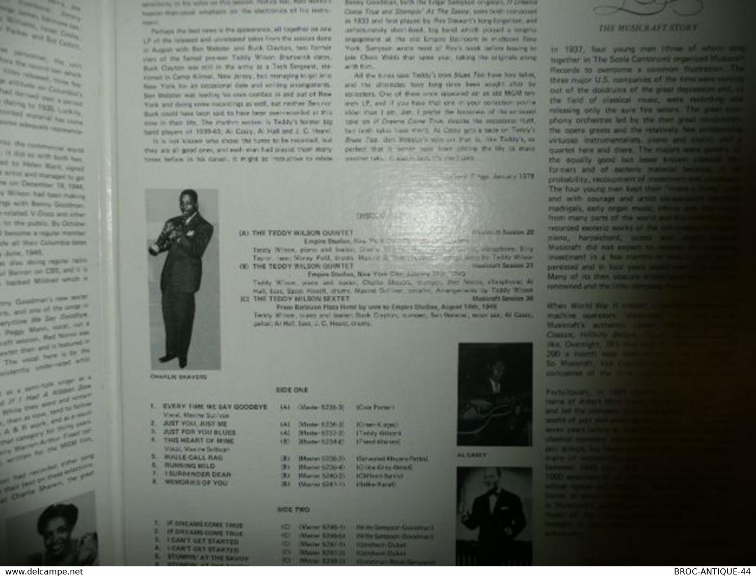 LP33 N°8090 - TEDDY WILSON AND HIS ALL STARS - MVS 502 - JOLIE POCHETTE - Jazz