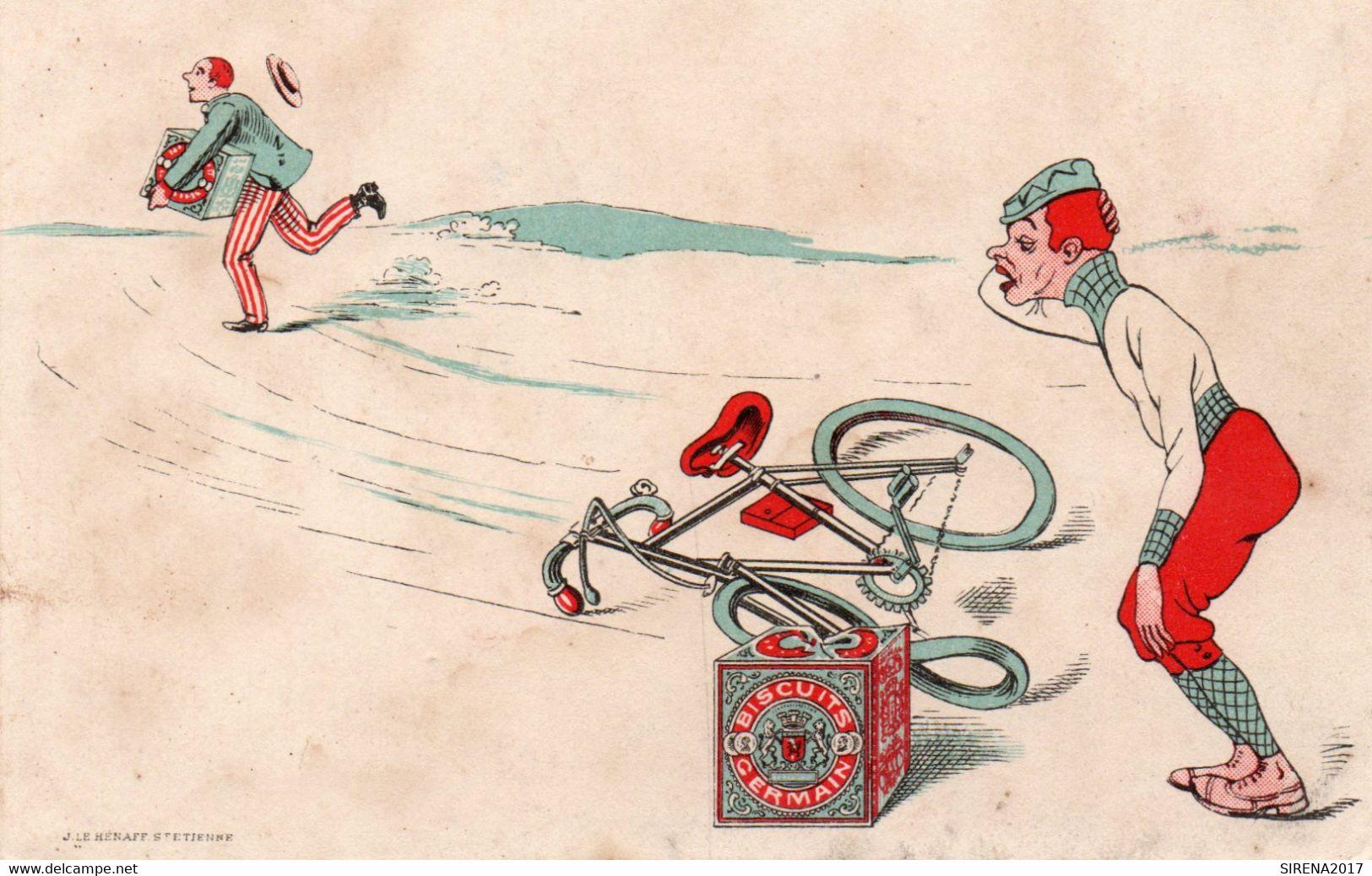 BISCUITS GERMAIN - 2 - NON VIAGGIATA - Cartolina Francese - Werbepostkarten