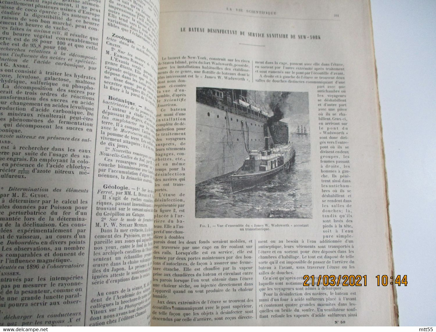 Reliure 1896 La Vie Scientifique  Max De Nasouty Revue Des Inventions Et Sciences Pratique Edi Juven - Zeitschriften - Vor 1900