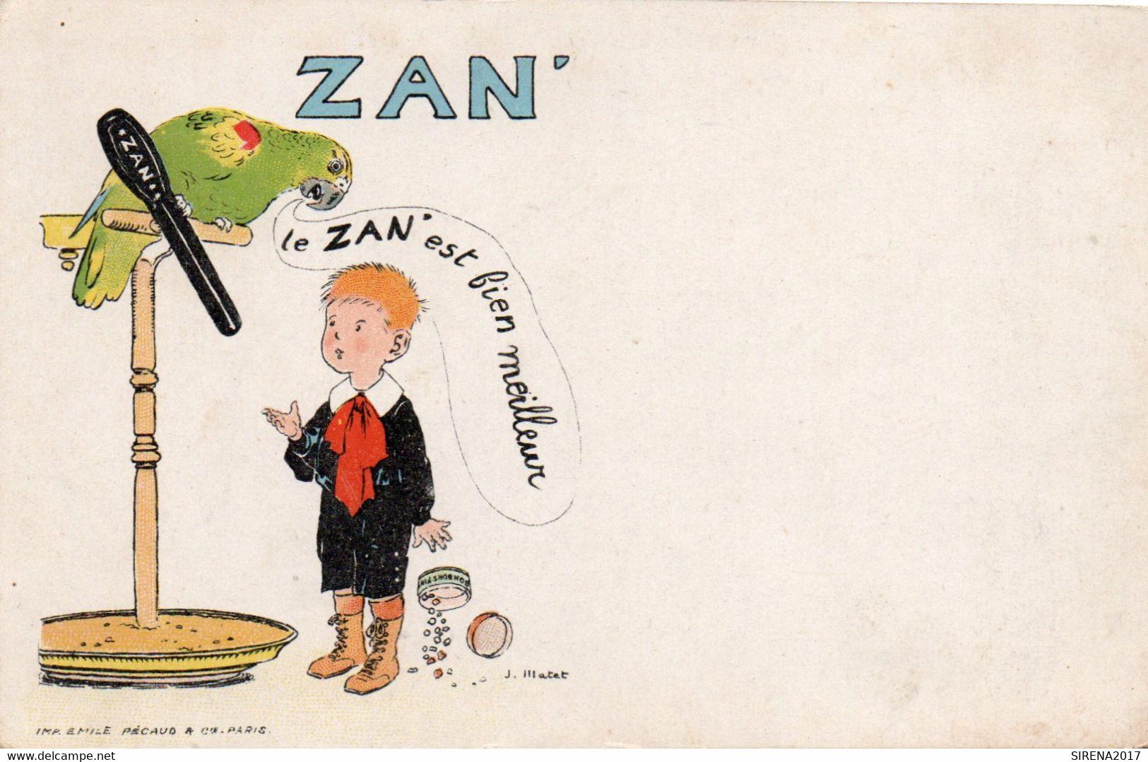 ZAN - LE MEILLEUR REGLISSE - 3 - NON VIAGGIATA - Cartolina Francese - Werbepostkarten