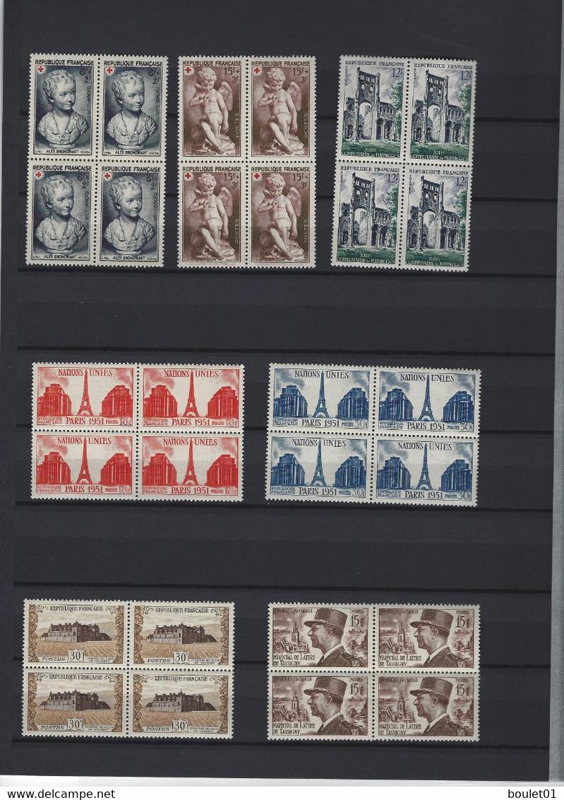 Colections De 60 Timbres Neufs Sans Charnière En Bloc De 4 Du N°863 Au N° 920 Avec Série Danton ( Cote + De 460 Euros ) - Verzamelingen