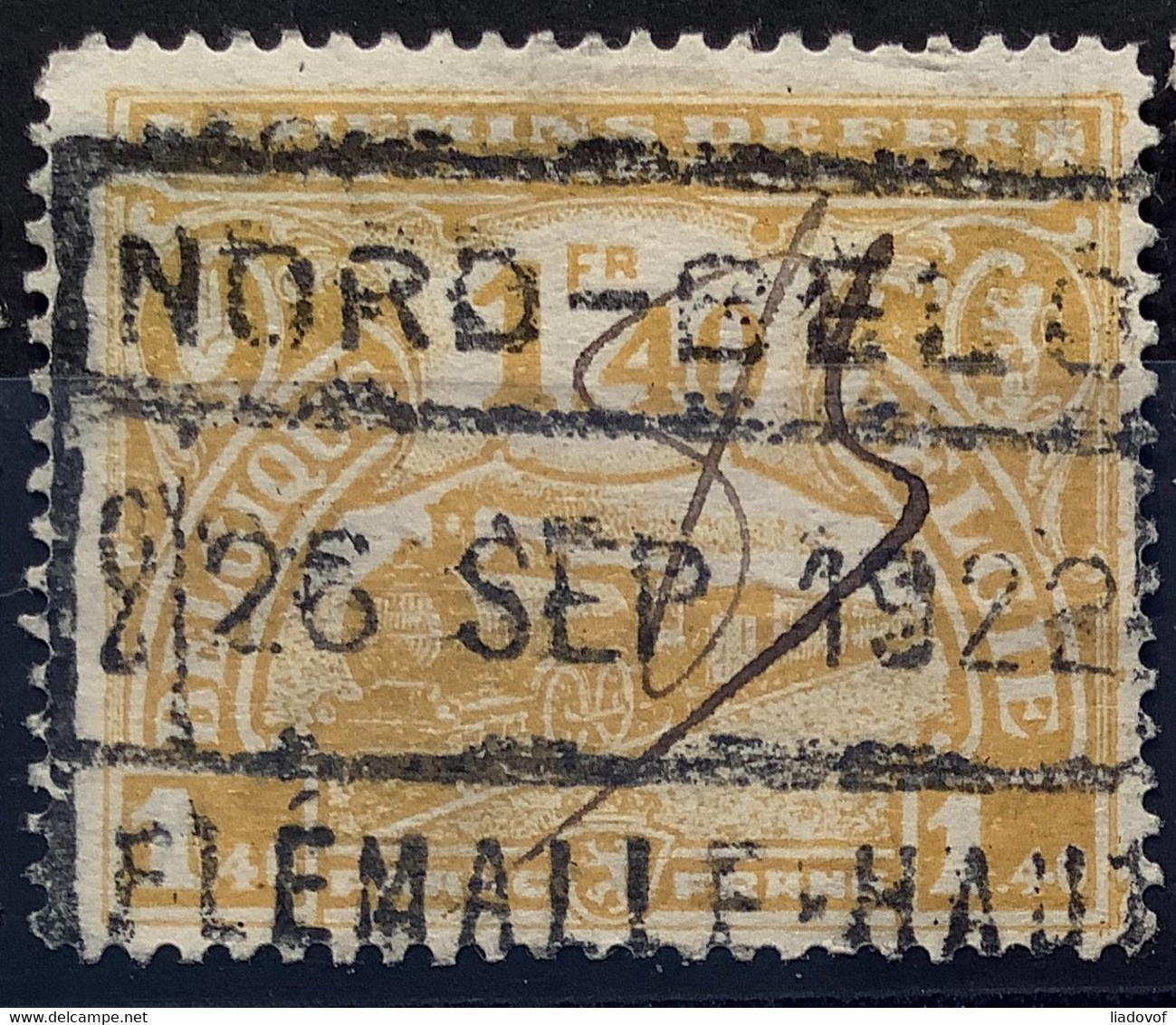 TR118 Gestempeld NORD BELGE FLEMALLE HAUTE - 1915-1921