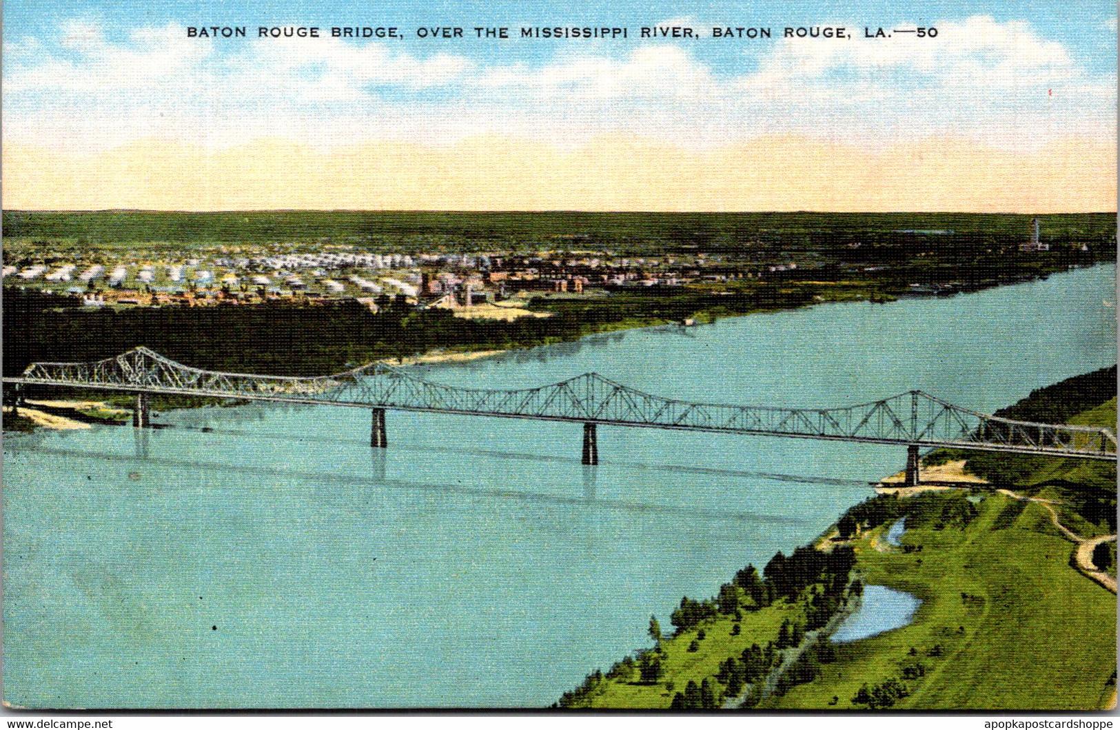 Louisiana Baton Rouge Bridge Over Mississippi River - Baton Rouge