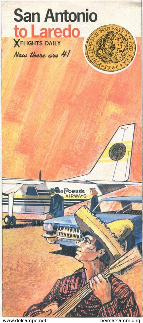 USA - La Posada Airways - Timetable - Flugplan - Faltblatt - World