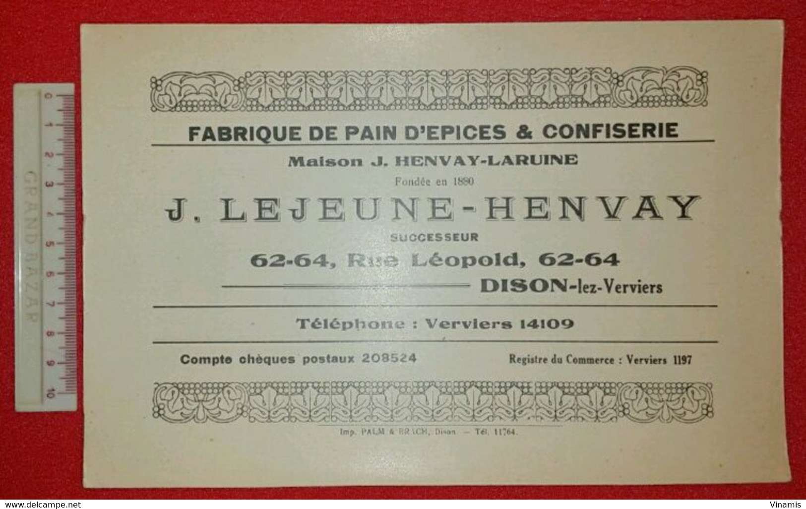LOT 5 BUVARDS - Maison J. Henvay-Laruine - Fondée En 1880 - J. LEJEUNE-HENVAY - DISON-lez-Verviers - Imp PALM Et BRACH - Gingerbread